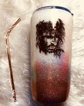 Load image into Gallery viewer, Tumbler Jesus Bible Verse Holographic Glitter Tumbler Cup Stainless Steel with Straw - Insulated - Gift for Woman - 20 oz - FREE SHIPPING