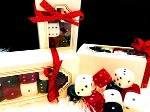 Dice Soap Boxed Set - Bunco - Gambling - Vegas - Free Shipping - Set of 10 - Bunco Party Favors - Cucumber Melon Scented