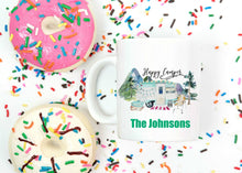 Load image into Gallery viewer, Happy Camper Personalized Mug - Gift for Mom, Grandma, Couples Gift, Mother's Day, Camper Retro Camping Coffee Mug, Nature and Outdoors