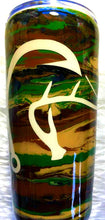 Load image into Gallery viewer, Camo Duck Deer Fish Hook Tumbler - Hunter, Hunting, Fishing - Gift for Dad - Brown, Green, Tan, Black - Insulated - 20 oz