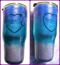 Load image into Gallery viewer, Nurse Ombre Holographic Glitter Name Tumbler / Nurse Coffee Mug / Nurse Travel Mug / Nurse Gift / Doctor Mug / Doctor Gift / 30 oz