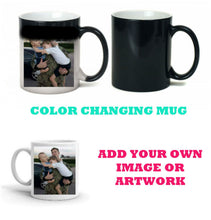 Load image into Gallery viewer, Color Changing Personalized Mug - Add Your Own Image or Artwork - Thermal Coffee Mug, 11 oz, Gift for Dad, Gift for Mom, Grandma, Coffee Mug