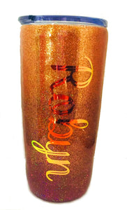 Personalized Ombre Glitter Tumbler, Holographic Glitter, You Choose Colors and Name, Custom Tumbler, Gift for Mom, Custom Gift, 20 oz