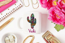 Load image into Gallery viewer, Cactus Personalized Coffee Mug - Cactus Gift, Cactus Lover Gift, Succulent Mug, Custom, Looking Sharp, Gift for Mom, Grandma, Mother's Day