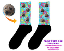 Load image into Gallery viewer, Custom Dog Photo Socks - Personalized Dog Socks - Custom Dog Birthday Gifts - Dog Lover Socks - Custom Photo Gift - Pet Photo Socks