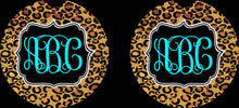 Load image into Gallery viewer, Personalized Car Coasters, Leopard Car Coasters, Sandstone Car Coasters, Monogram Car, Personalized Car, Leopard Car Accessories, Custom Car