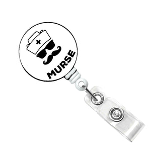 Badge Reel for Men, Male Nurse, Murse, Name Badge Holder Gift for Him Retractable ID Badge Clip, RN Badge Pull, Nursing Student Gift, Nurse
