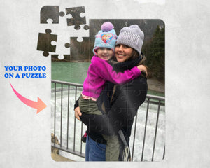 "Custom Photo Puzzle - Personalized Photo Puzzle - Picture Jigsaw Puzzle - Photo Puzzle - Custom Photo Gift - Photo Gift - 48 Pieces - 8""x10"""