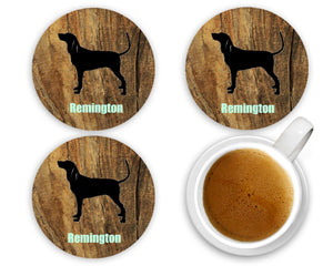 Dog Breed Personalized Coasters, 100% Custom, You Choose Breed, Name/Color, Background, Dog Lover Gift, Mom Gift, Wedding Gift, Set of 4