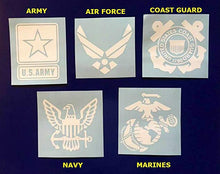 Load image into Gallery viewer, Military Decal, Military Sticker, Navy, Air Force, Marines, Coast Guard, Army, Military Spouse, Military Wife, Window Decal, Tumbler Sticker