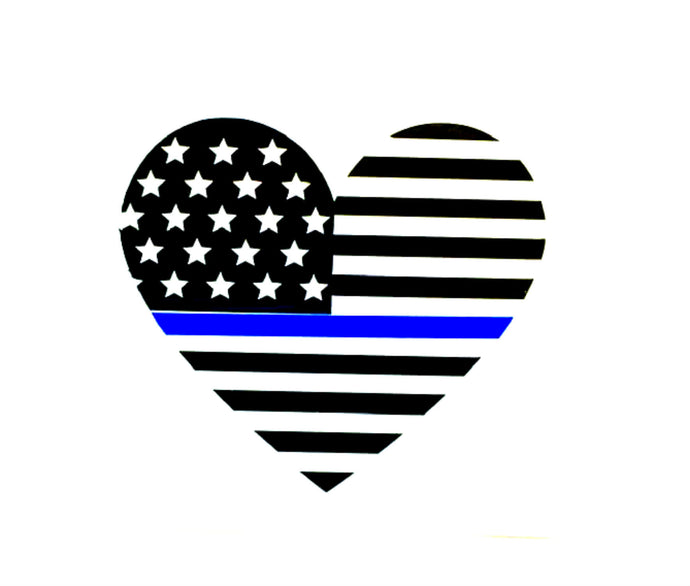 Thin blue line flag decal, police flag, police wife, blue lives matter, law enforcement, police sticker deputy wife police officer gift