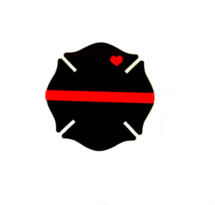 Thin red line Decal, firefighter badge decal, firefighter wife, fire wife decal, red line decal, firefighter decal, fire decal, firefighter