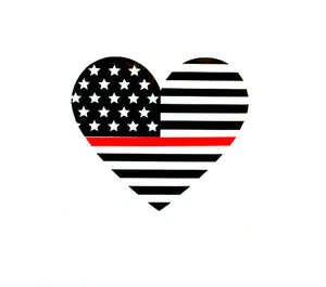 Thin Red Line Decal, Heart Firefighter Decal, Fire Department Decal, Fireman Decal, Firefighter Wife Decal, Car Window Decal, Tumbler Decal