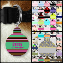 Load image into Gallery viewer, Custom Single-sided Dog Tag Personalized Circle Pet Tag Dog Tag Custom Dog Tag Custom Pet Tag Single Sided Dog Tag Dog Tags for Dogs