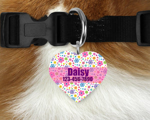 Custom Heart Single-sided Dog Tag Personalized Heart Pet Tag Dog Tag Custom Dog Tag Custom Pet Tag Single Sided Dog Tag Dog Tags for Dogs