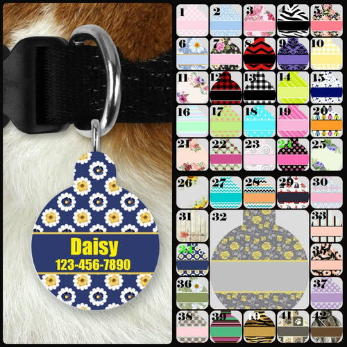 Custom Single-sided Dog Tag Personalized Circle Pet Tag Dog Tag Custom Dog Tag Custom Pet Tag Single Sided Dog Tag Dog Tags for Dogs