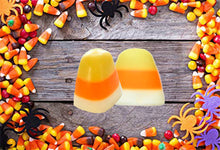 Load image into Gallery viewer, Candy Corn Soap Set of 2 - Fall Party Favors, Halloween, Trick or Treat, Soap for Kids, Halloween Soap - Haunted House - 3-Dimensional