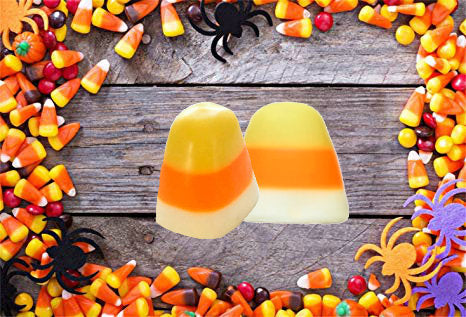 Candy Corn Soap Set of 2 - Fall Party Favors, Halloween, Trick or Treat, Soap for Kids, Halloween Soap - Haunted House - 3-Dimensional