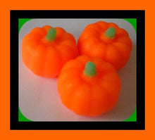 Load image into Gallery viewer, Soap Pumpkins - Free U.S. Shipping - Fall Party Favors, Halloween, Thanksgiving, Haunted House, Bath Decor - 3-Dimensional - 3 Soaps