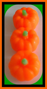 Soap Pumpkins - Free U.S. Shipping - Fall Party Favors, Halloween, Thanksgiving, Haunted House, Bath Decor - 3-Dimensional - 3 Soaps