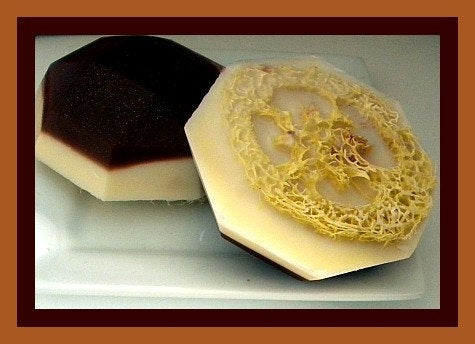 Soap - Loofah Soap - Mocha Latte Coffee Soap - Exfoliator - FREE U.S. SHIPPING - Coffee Lover Gift - Gift for Mom, Sister, Aunt
