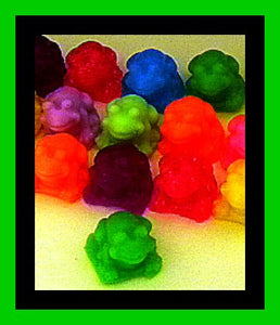 Soap - Frogs - Mini Frogs - 20 Soaps - Free U.S. Shipping - Party Favors - Birthdays - Soap for Kids - Mini Soap Favors