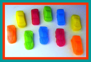 Car Soap - Mini Race Cars - 10 Soaps - Free U.S. Shipping - Cars - Soap for Boys - Party Favors, Birthdays