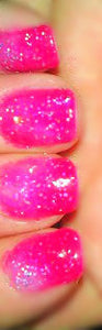Color Changing Glitter Nail Polish - Mood Nail Polish - Cherry Blossom - FREE U.S. SHIPPING