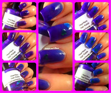 "Load image into Gallery viewer, Nail Polish - Thermal Nail Polish - Color Changing Nail Polish - FREE U.S. SHIPPING - ""Heartless"" - Blue to Purple"
