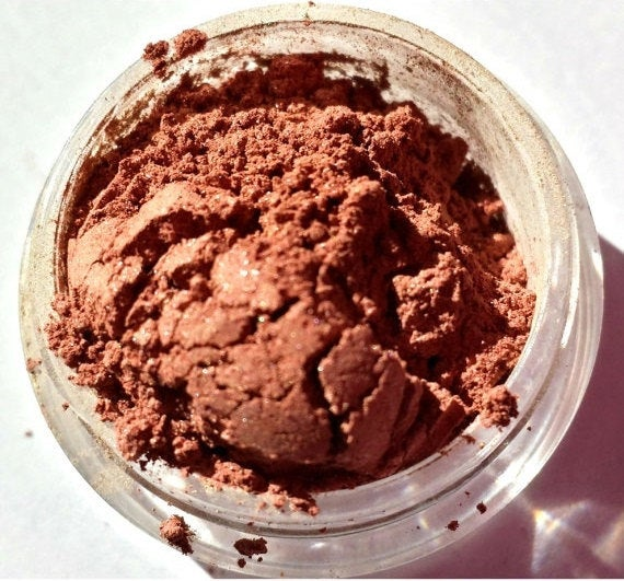 Mineral Eye Shadow - Copper/Dark Peach Shimmer Eye Shadow - Free U.S. Shipping -