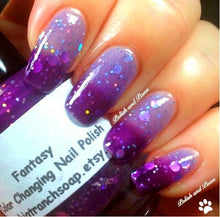 "Load image into Gallery viewer, Color Changing Thermal Nail Polish - ""FANTASY"" - FREE U.S. SHIPPING - Temperature Changing - Custom Blended Nail Polish/Lacquer"