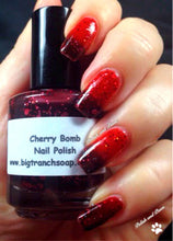 Load image into Gallery viewer, Color Changing Nail Polish - Mood Nail Polish - Glitter - Cherry Bomb - FREE U.S. SHIPPING