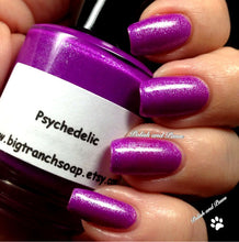 Load image into Gallery viewer, Neon Purple Nail Polish - Fluorescent -PSYCHEDELIC - Free U.S. Shipping - UV Reactive Nail Polish Lacquer