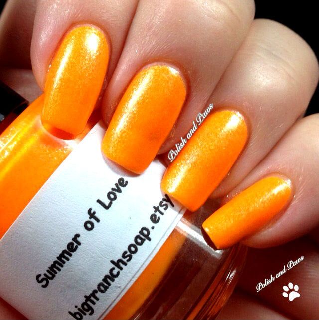 Neon Orange Nail Polish - Fluorescent -