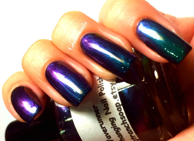 Free U.S. Shipping - Nail Polish - Multichrome Chameleon Chrome - Purple/Green Color Shifting -