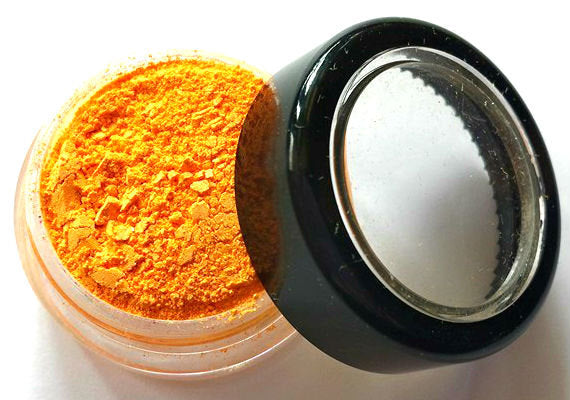 Bright Orange Shimmer Eye Shadow - Neon Orange -