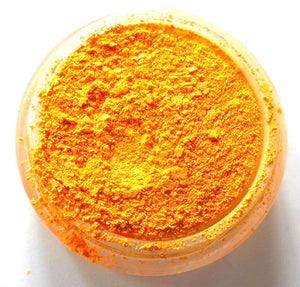 "Bright Orange Shimmer Eye Shadow - Neon Orange - ""Tangerine"" - Free U.S. Shipping - Mineral Makeup - Eyeshadow"