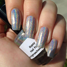 "Load image into Gallery viewer, Holographic Silver Nail Polish Top Coat - Free U.S. Shipping - ""Gypsy"" - 0.5 oz Full Sized Bottle"