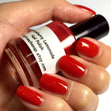 Load image into Gallery viewer, Color Changing Nail Polish - Strawberry Lemonade - Red to Yellow - Gift for Woman, Mom, Sister - Full Size - FREE U.S. SHIPPING