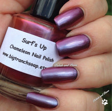 Load image into Gallery viewer, Free U.S. Shipping - Chameleon Nail Polish - Color Shifting Nail Polish/Lacquer - SURF'S UP - Regular Full Sized Bottle (15 ml size)