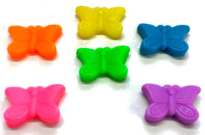 Butterfly Soap - Butterflies - 6 Soaps - Party Favors, Birthdays - Bright Colors -  Free U.S. Shipping - You Choose Color and Scent