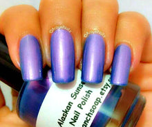 "Load image into Gallery viewer, Nail Polish - Multichrome - Blue/Purple/Red Color Shifting - Free U.S. Shipping - ""Alaskan Sunset"" - Hand Blended - 0.5 oz Full Sized Bottle"