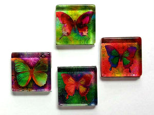 Mother's Day - Magnets - Butterflies - Butterfly - Set of 4 - Gift for Mom, Sister, Grandma - Free U.S. Shipping