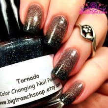 "Load image into Gallery viewer, Color Changing Thermal Nail Polish - FREE U.S. SHIPPING - ""Tornado"" - Black to Grey Color Changing"