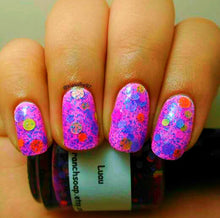 Load image into Gallery viewer, Luau: Custom-Blended NEON Glitter Nail Polish/Lacquer - Free U.S. Shipping