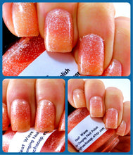 Load image into Gallery viewer, Color Changing Nail Polish - FREE U.S. SHIPPING - Heat Wave-Orange to Yellow - Hand Blended Polish - 0.5 oz Full Sized Bottle