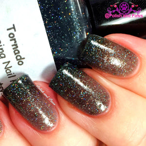 "Color Changing Thermal Nail Polish - FREE U.S. SHIPPING - ""Tornado"" - Black to Grey Color Changing"