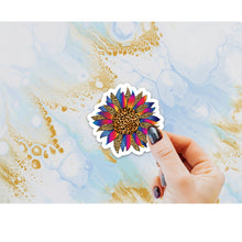 Load image into Gallery viewer, MINI Leopard Sunflower Sticker, Laptop Sticker, Water Bottle Sticker, Sunflower Sticker, Cheetah Sunflower Sticker, Sunflowers, Leopard