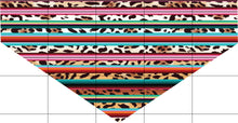 Load image into Gallery viewer, Leopard Serape Dog Bandana Over the Collar, Personalized, Includes Collar, Custom Pet Bandana, Personalized Pet Scarf, Pet Owner Gift, New Dog, Choose Size