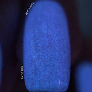Glow-in-the-Dark Nail Polish - Purple, Glows Blue - Galaxy - Custom Blended - Glow Nails, FREE U.S. SHIPPING, Full Sized Bottle (15 ml size)